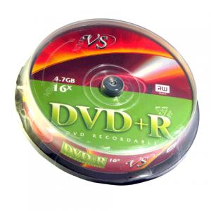 Диск DVD+R(плюс) VS 4,7Gb 16x 10шт Cake Box (ш/к - 0533)
