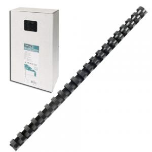 Пружины пласт. д/переплета FELLOWES набор 100шт, 12мм (для сшивания 56-80л) черные, FS-53465