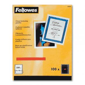 Пленки-заготовки д/ламинир-я FELLOWES набор 100шт, 75*105 мм, 125 мкм, FS-53069