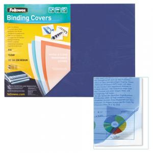 Обложки д/переплета FELLOWES Transparent, набор 100шт, А3, пластик 200мкм, прозрачные, FS-53764