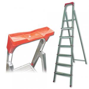 """Лестница-стремянка """"UFUK"""" 155см, 7 ступ, стальная, облегчен,вес 10кг, ТУ 21/KRM507"""