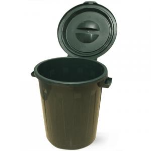 Контейнер для мусора 90л+КРЫШКА, зеленый (в 64,5*диам. 60 см), IDEA M2394