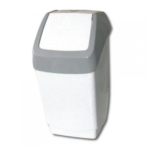 Контейнер для мусора 25л, серый (в 55*ш 30*г 28 см), качающаяся крышка, IDEA, М 2472
