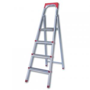 """Лестница-стремянка """"UFUK """" 86см, 4 ступ, стальная, облегчен,вес 6,3кг, ТУ 18/KRM404"""