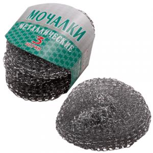 Губки (мочалки) бытовые металлические сетчатые 3шт., VITALUX, (шк 0585)