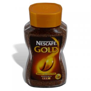 """Кофе растворимый NESCAFE """"Gold"""", сублимированный, 95г, стеклянная банка"""
